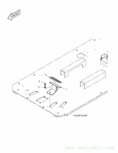 DX300LC  Rest,foot(l.h) 220107-00005 Assembly