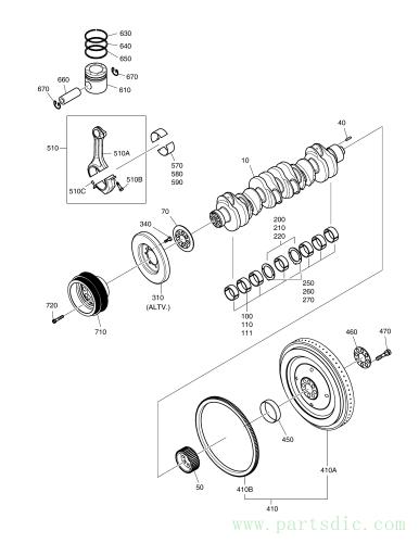 DX380LC  Ring Piston 65.02503-0127 #630(Ø108X5)