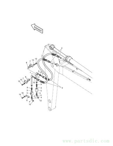 SOLAR 250LC-V  Clamp Pipe 2124-1693 #7(95*40*32)
