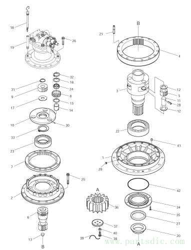 SOLAR 250LC-V  Swing Device 401-00125 Assembly
