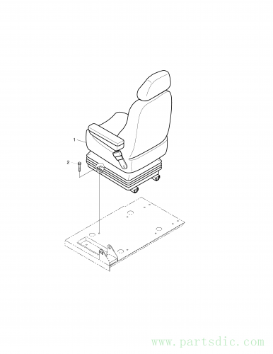 SOLAR 290LC-V  Seat Mounting 901-00014A Assembly