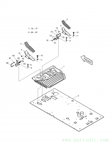 SOLAR 340LC-V  Bar 133-00167 #7B(90*80*10)