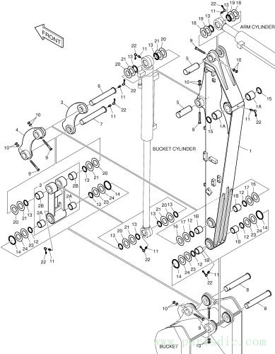 B55W-2  Arm Mach(1.6m) K1054107 #1
