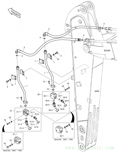 DX140W TIER-II  Valve Stop(r.h) K1033249 #32-1(80*80*73)