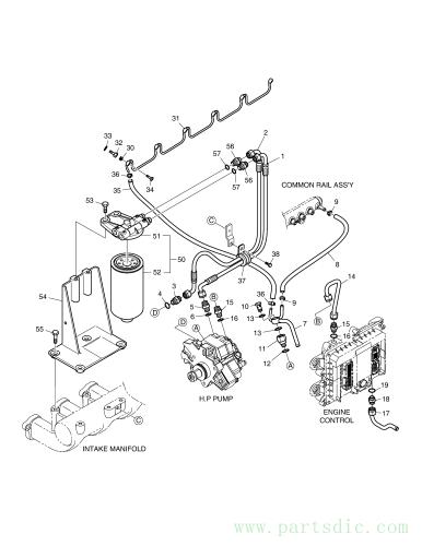 DX140W TIER-III  Fuel Filter Ass`y 65.12501-7042C #50(220*140*100)