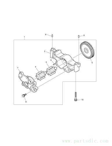 DX140W TIER-III  Cover Oil Pump 65.05103-0034 #1F(140*115*15)