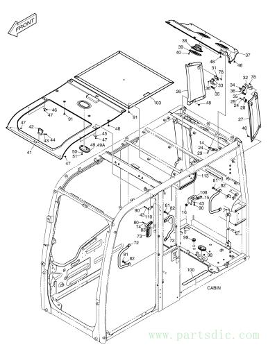 DX160W RAIL WAY  Cover Speaker K1014591B #39(126*126*15)