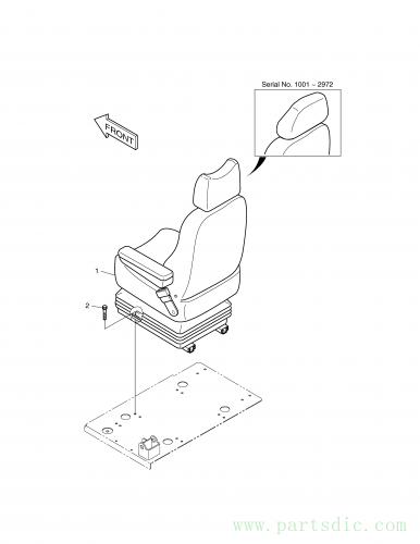 SOLAR 160W-V  Seat Mounting 901-00031 Assembly
