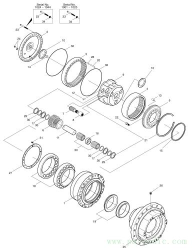 SOLAR 290LL  Ring Gear No.2 2104-1009G #4(Ø394X113)