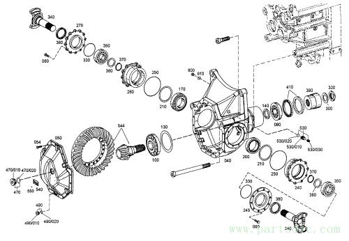 MT26-31 SERIES III  Cover,bearing MX252847 #260