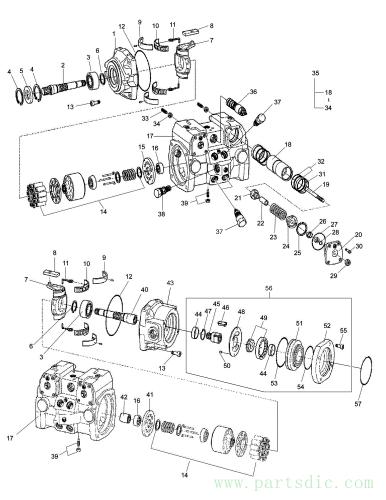 460 PLUS  Pump Hst(joystick) K1022798A(K1022798B) Assembly