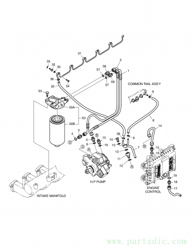 DL200  Hose Fuel 65.96340-5081 #2(590*80*40)