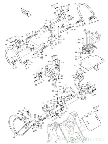 MEGA 300-V (S/N 2001~)  Pipe Bucket Dump 193-00212A #8(277*159*360)