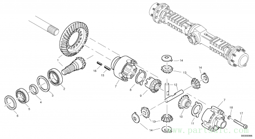 Differential carrier - assy rear axle