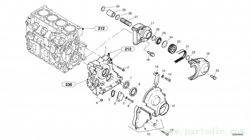 Timing gear housing (front cover)