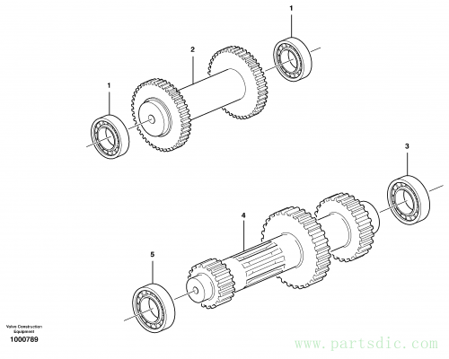 Reverse and primary shaft 11891076, 11891077