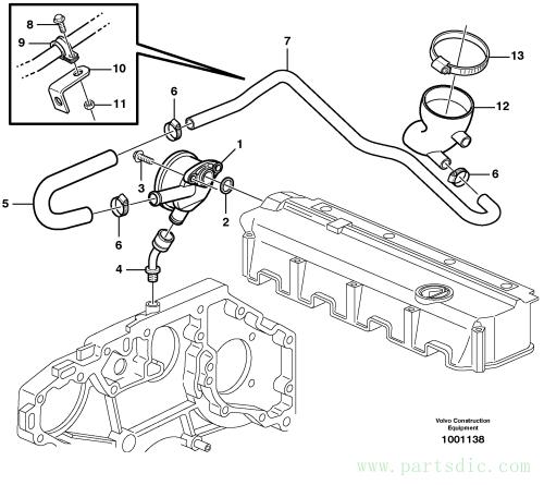 Crankcase ventilation ENGINE 14521396, 14521397, 14521398