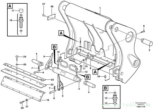 Hydraulic attachment bracket 80847