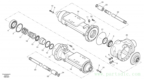 Housing - front axle 2813987