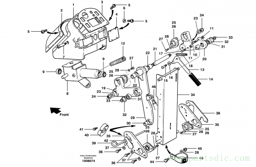 Control head assembly S/N 35050, 35051, 35061 -