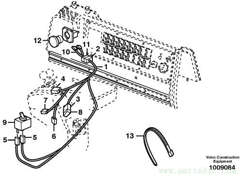 Cable harness, detent, 3rd hydraulic function 80098