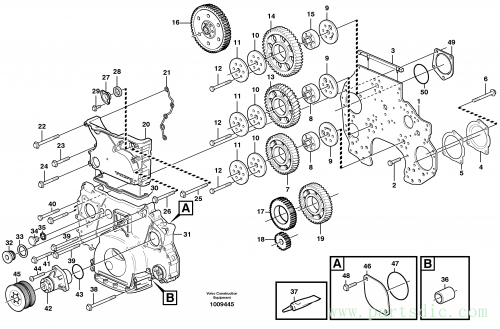 Timing gear casing and gears ENG - 645018