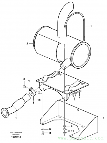 Exhaust system, silencer