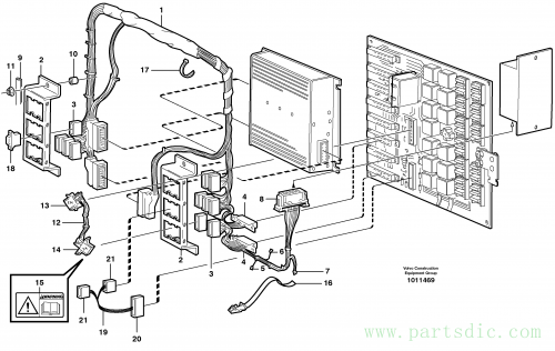 Electrical distribution unit and cable harness