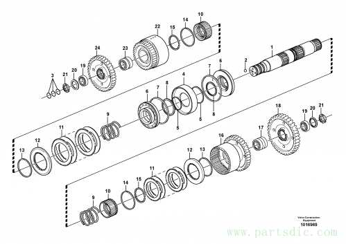 Hydraulic connection CD, 22557