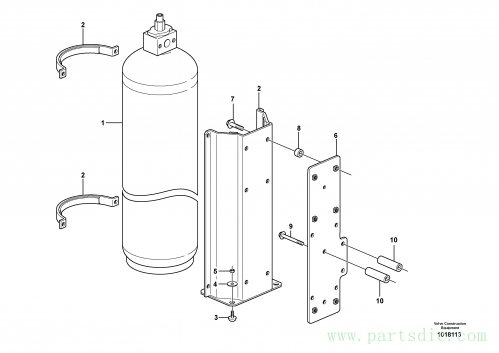 Tank with fitting parts 82594