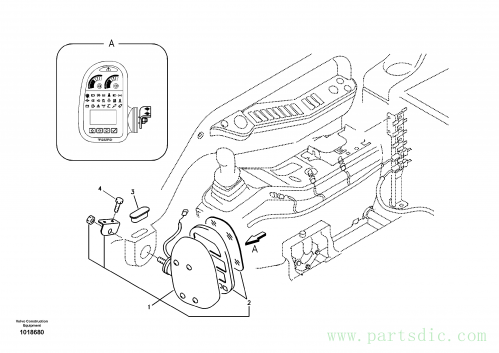 Instrument panel, warning unit and information unit