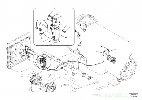 Hydraulic system, oil cooling system
