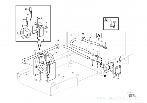 Fuel filling pump with assembling details