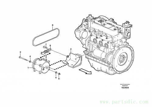 Compressor with fitting parts, cooling agent R134 A 11840395