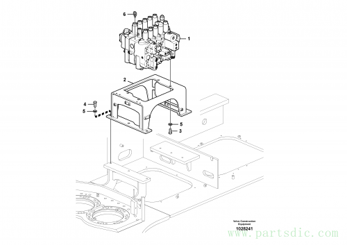 Control valve with fitting parts.