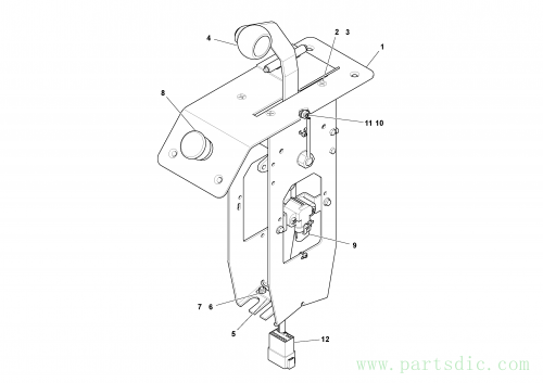 Lever Assembly, Master S/N -200653, LH, 43870427