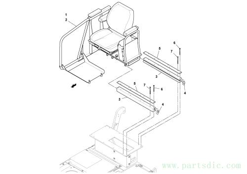 Seat Installation S/N 200654-, 43947993