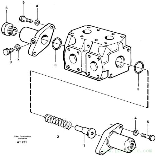 Reversing valve 3rd and 4th funcion 94591, 93540