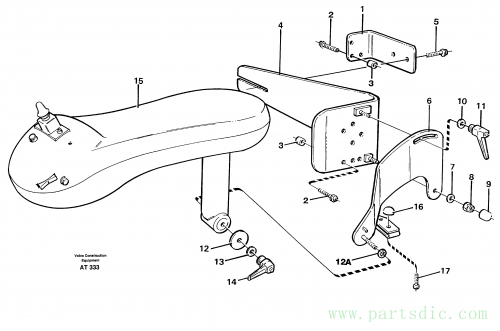 Cdc-steering, armrest, mounting. 94604