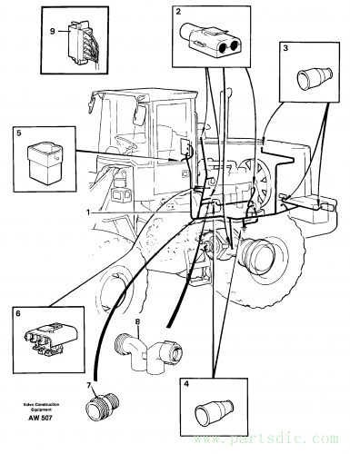 Cable harnesses, rear