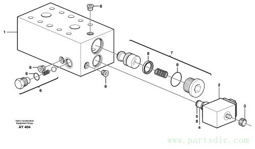 Valve, circuit body and return valve 80013