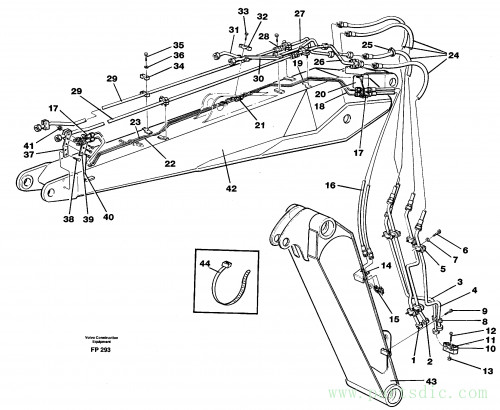 Pipes and fittings, adjustable boom 14267963