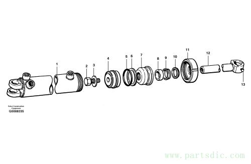 Steering cylinders MODEL G710B - G746B