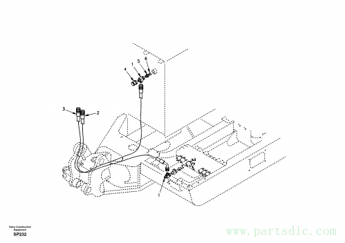 Working hydraulic, boom rupture