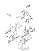 S150LC-7B  Link Guide(l.h) 2155-1307B #4(661*151*70)