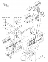 DX225LC (S/N 5433~)  Link,guide(r.h) 101540-00012 #3(776*173*46)