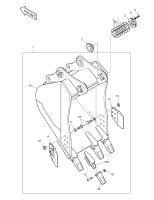 DX300LC  Bucket Sub Ass`y 0.8m³ K1007505B(K1007505C) #1