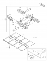 DX300LCA  Link Track(l.h.) 272-00057 #1-1B(330*116*70)