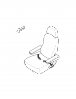 SOLAR 400LC-III  Seat 2901-7004 Assembly