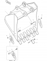 SOLAR 220LC-V  Bucket Ass'y 1.18m³ 2704-1396C(2704-1396E)